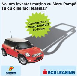 CASCO si carburant gratuit la BCR Leasing
