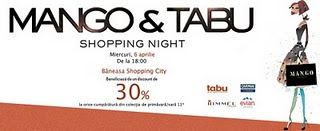 Mango&Tabu Shopping Night la Baneasa Shopping City