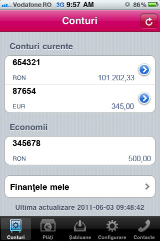 Mobile banking pentru iPhone si Android la Millenium Bank